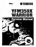 1987-2009 Yamaha ATV YFM350X Warrior Raptor Service Manual