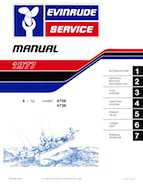 1977 Evinrude 4HP Outboards Service Manual, PN 5303