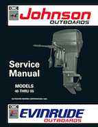 "1992 Johnson Evinrude ""EN"" 40 thru 55 Service Manual, P/N 508143"