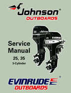 1997 Johnson/Evinrude EU 25, 35 HP 3-Cylinder outboards Service Manual