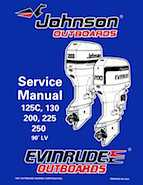 "1998 Johnson Evinrude ""EC"" 125C, 130, 200, 225, 250 90 deg LV Service Manual, P/N 520212"