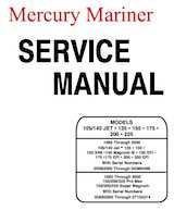 1992-2000 Mercury Mariner 105-225HP outboards Factory Service Manual